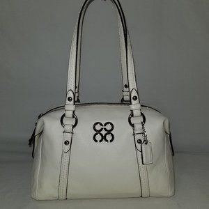 COACH 45224 Small Julia Ivory Leather Satchel Bag
